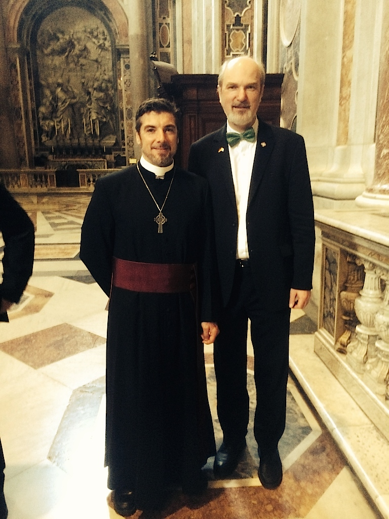 My last photo with Tony Palmer in St Peter's Cathedral